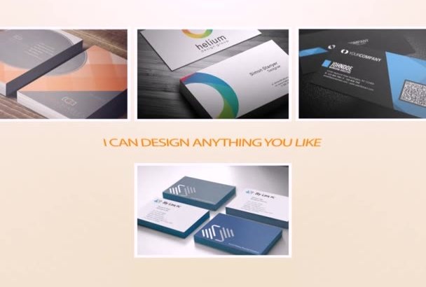 design BEAUTIFUL and professional business card
