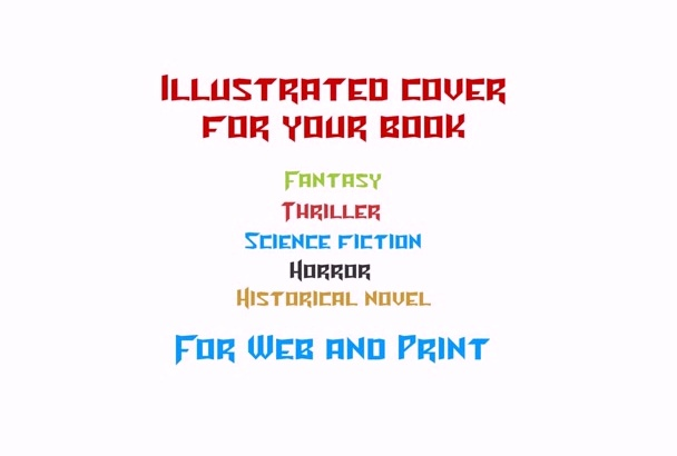 draw unique illustrated cover for your book