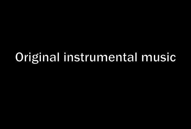 compose and produce original music for your projects