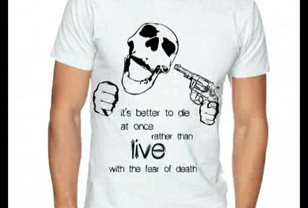 design a custom Tshirt