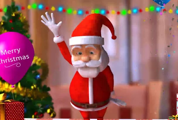 create Christmas Happy Santa