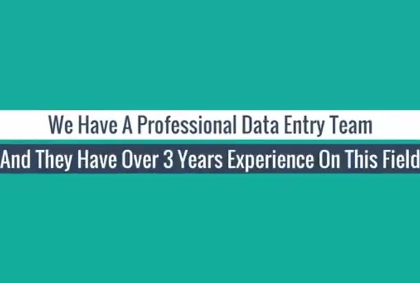 do any type of data entry service