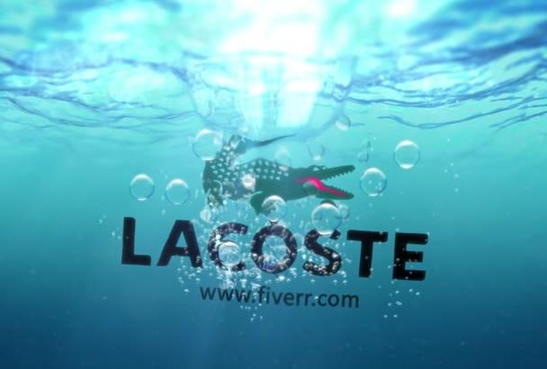 design a Water Splash liquid Logo 2 video intro