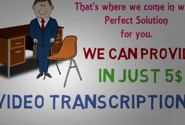 provide Quality Transcript for any Audio or Video