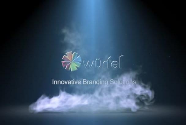 provide a 3d logo intro video