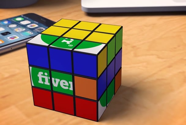 make a Rubiks Cube reveal your LOGO