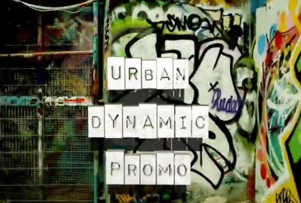 create an URBAN Street Art video