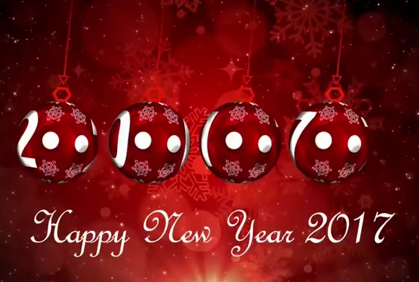 make a happy new year 2017 video greeting for in 2 hours