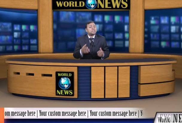 record a realistic Breaking NEWS Video commercial