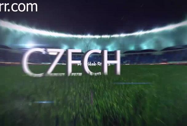 make an amazing football soccer field animation