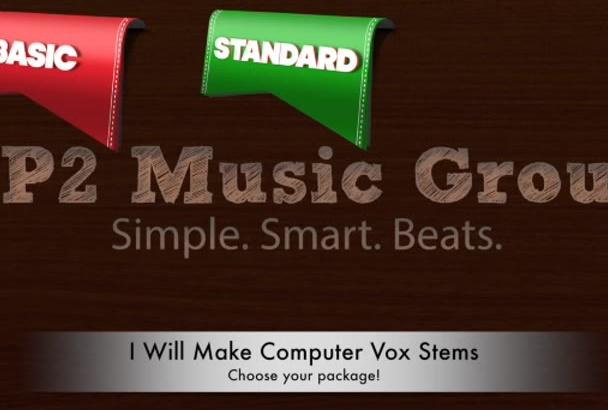make computer vox stems