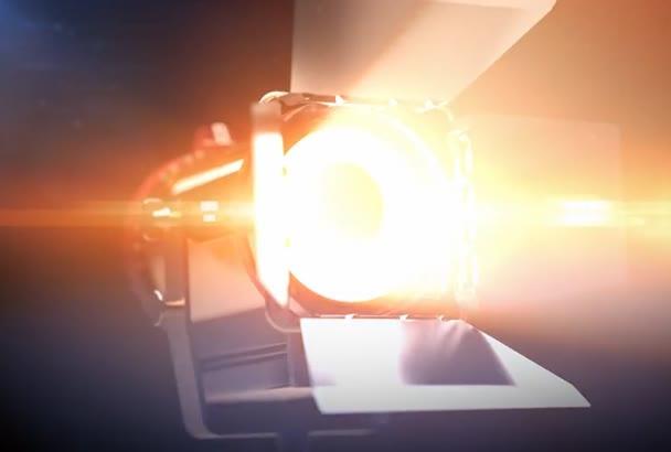 do a Film Light Logo Reveal Intro Video
