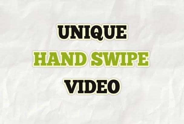 edit This Hand Swipe TYPOGRAPHY Video
