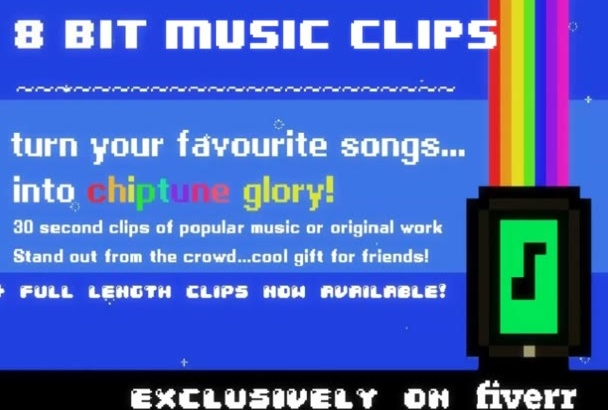 convert your music into 8 Bit Style