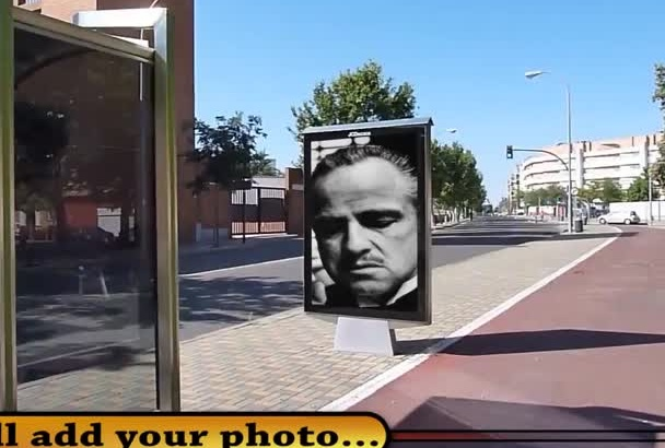 promote your logo or brand in the bus stop billboard panel