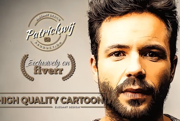 draw High Artistic Cartoon style from your Portrait