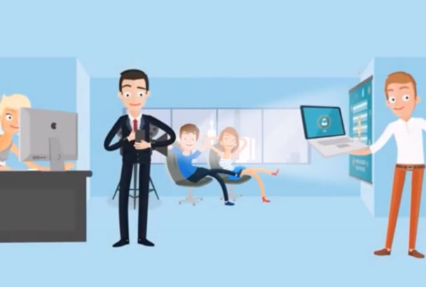 create an amazing custom animated explainer video