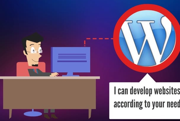 develop professional website from Wordpress