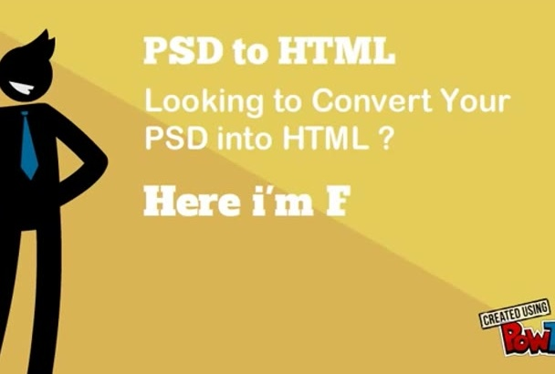 create PSD to responsive html using Bootstrap