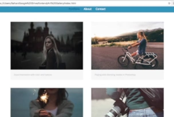 create a photo gallery for your website