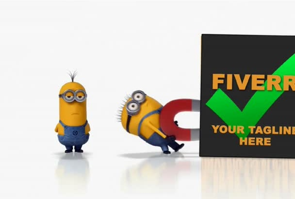 make an awesome Logo Intro video with Minions