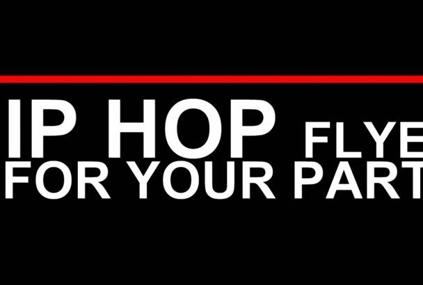 design and print hip hop flyer in Run Dmc style