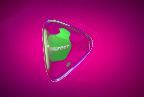 create Glass Reveal Logo Opener