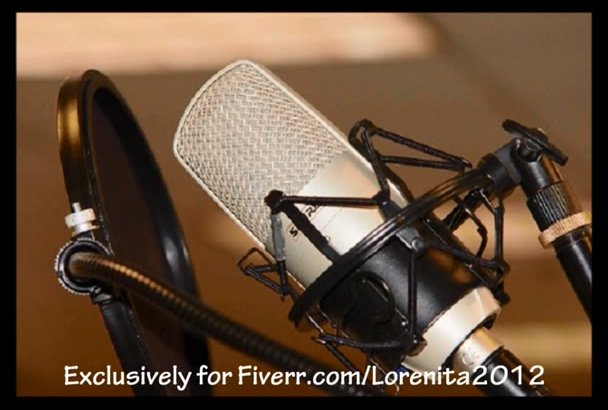 record an awesome voiceover in perfect English or Spanish