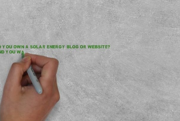 write articles on solar energy for websites and blogs