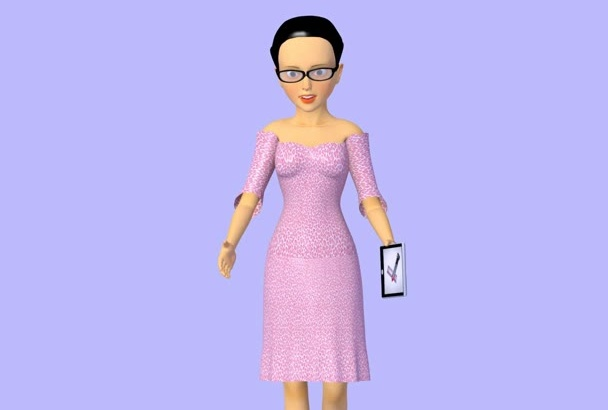 do full character and set 3D animation