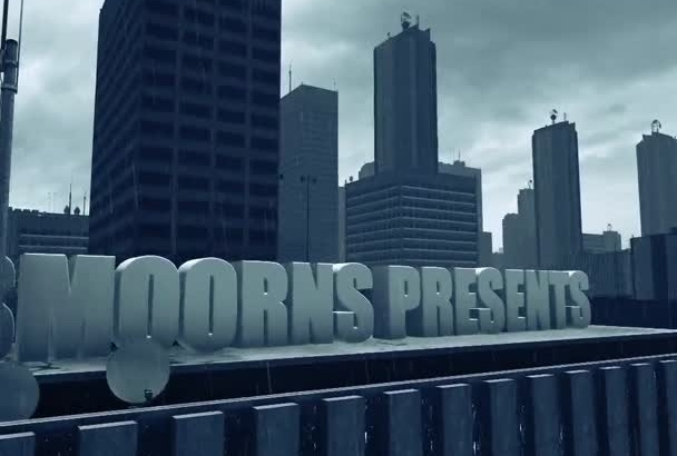 create a 3D city intro with your text or logo