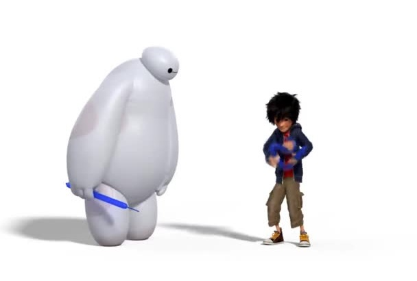 make funny baymax vs balloon video with your logo or message