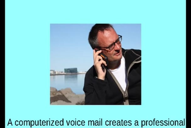 provide a custom computerized voice mail in a British female voice