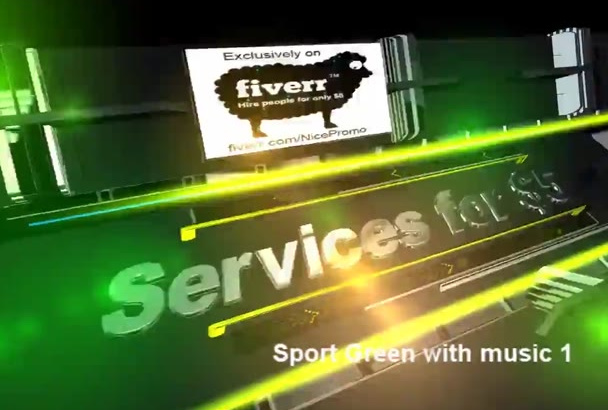 design a Professional Sports Promo video