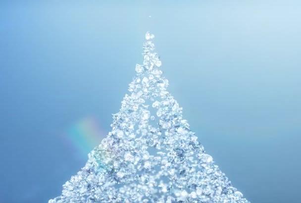 make Professional Sparkling Diamonds Logo Animation Video Intro in Full HD