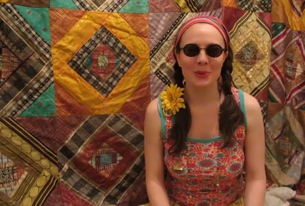 make a video as a 1960s hippie flower child