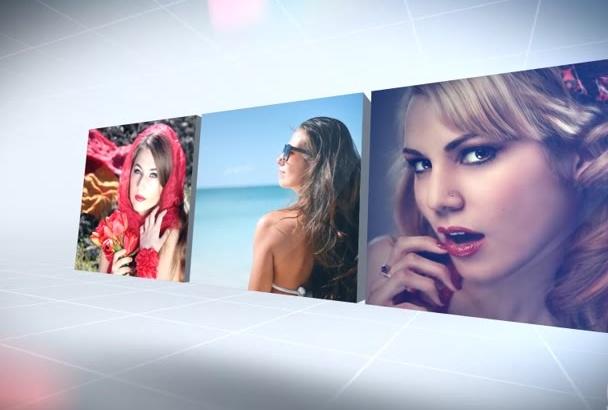 do this elegant cubic slideshow promo