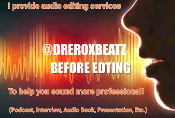 edit or convert any audio for you
