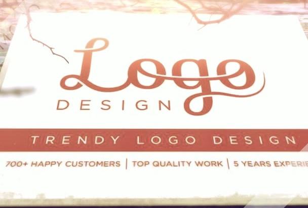 design a TRENDY Logo for you