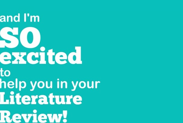 be your literature review writer