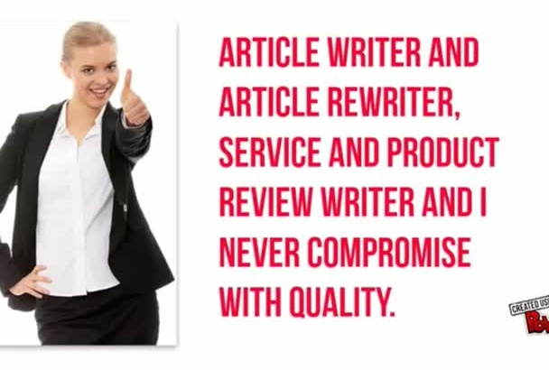 write SEO Friendly Articles,Content,Product Review