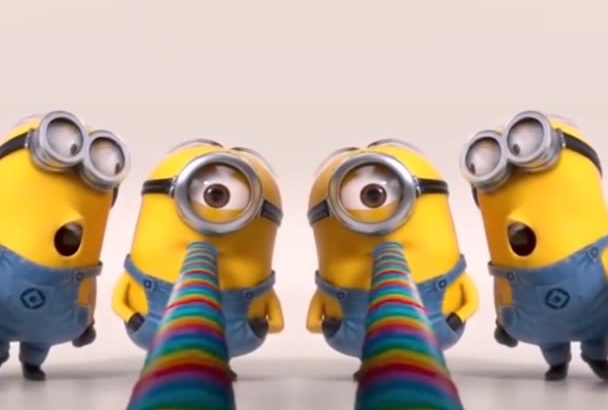 make BIRTHDAY Greetings gift with Minions