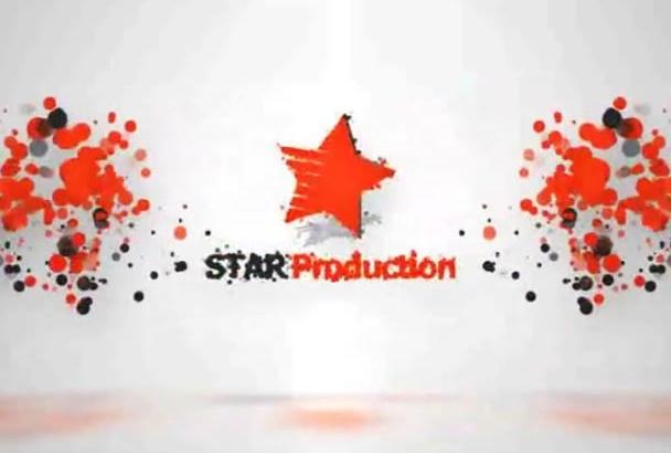 create 8 logo particle intro video