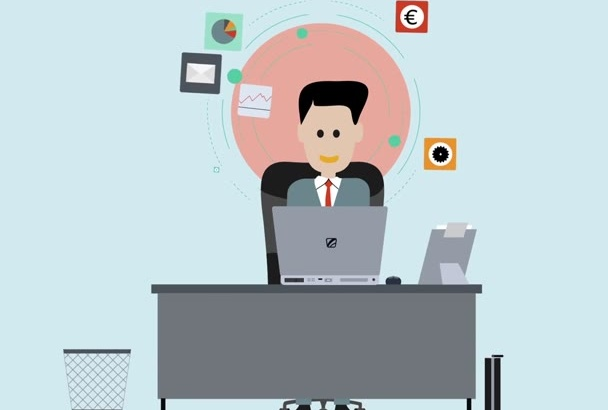 create you Animated sales or Explainer video