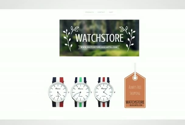 make you a demo Webshop or ECommerce for FREE with 24 hour