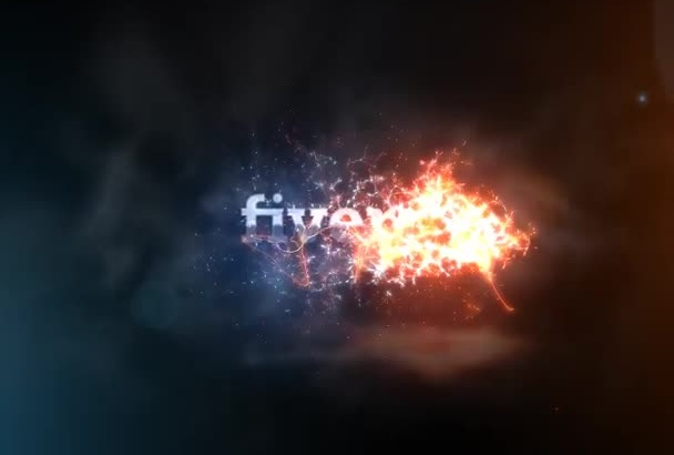 create this awesome fire reveal logo intro video