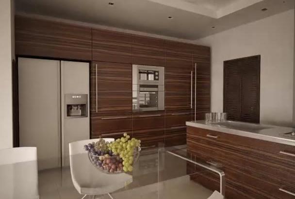 3d render your dream kitchen