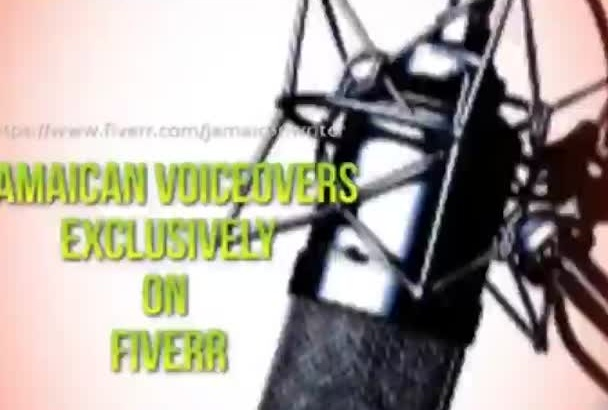 do a voice over in a Jamaican accent