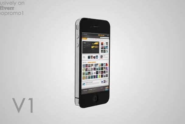 make an iPhone 4 or 5 promo video of your app