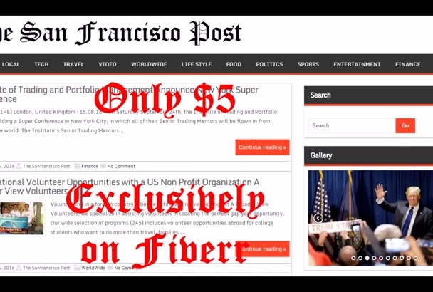 publish article on San Francisco News blog